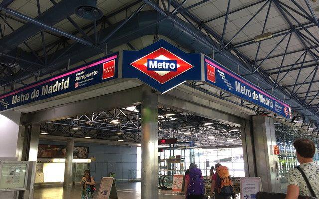 【スペイン女子一人旅1日目】マドリード バラハス空港から市内に地下鉄で移動~メトロの乗り方