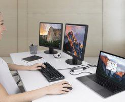 USB Type-Cポート1つでデュアルディスプレイ。2台の外部モニタとノートPCを接続する方法