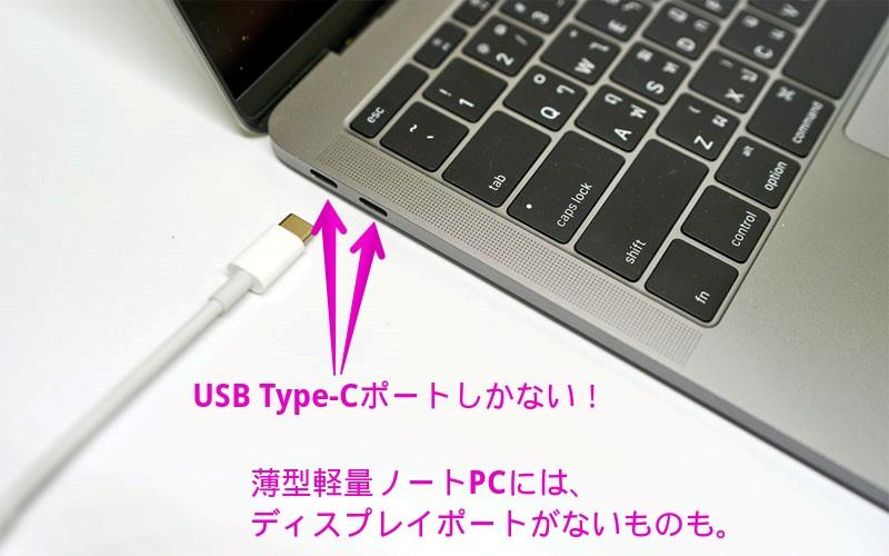 ノートPCにUSB Type-Cポートしかない
