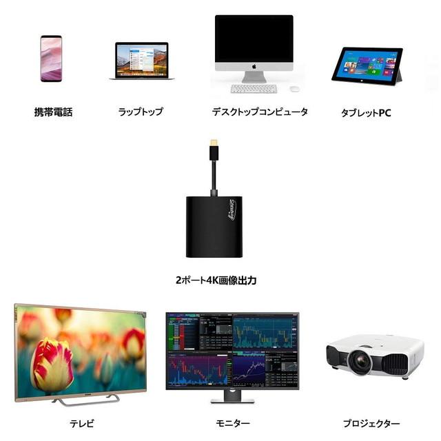 Cype-C デュアルディスプレイアダプター
