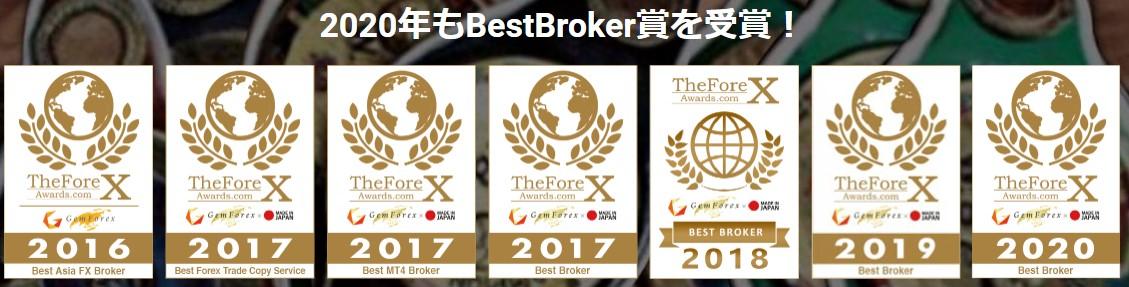 GemForex(ゲムフォレックス) 賞受賞歴