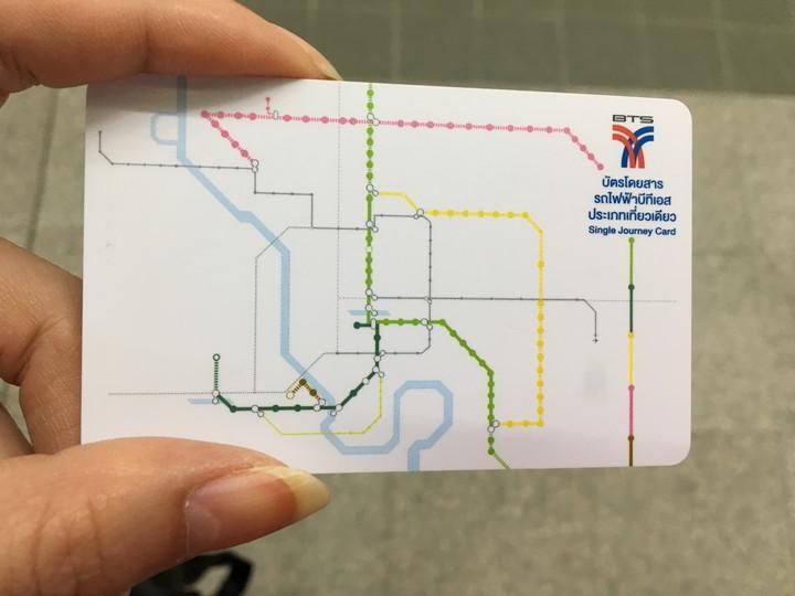 BTSスカイトレインの乗車カード