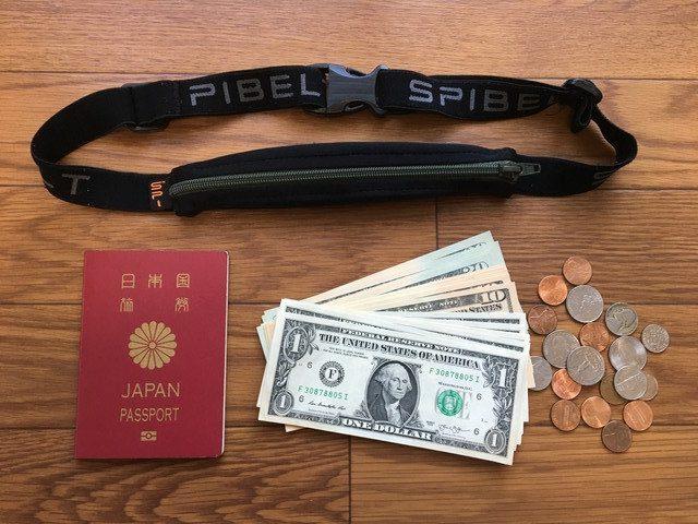 スパイベルト(SPIBELT BASIC)、紙幣・パスポートも楽々収納