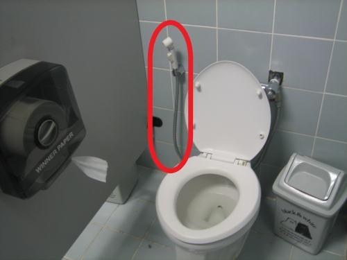 タイのトイレ事情:お尻用の小型シャワー付が大半