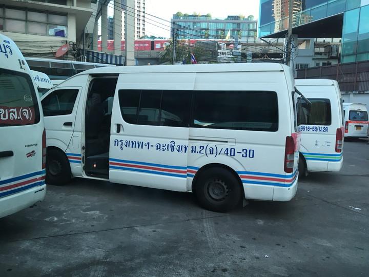 バンコクからパタヤへ 長距離バス移動(エカマイ駅)
