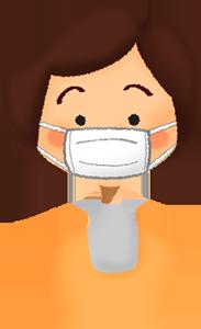 「マスクの正しい着用」でリスク半減