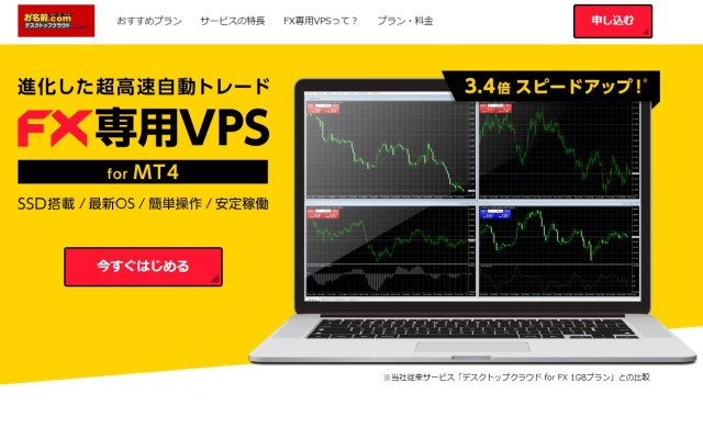 FX自動売買にVPS!「お名前.comデスクトップクラウド for MT4」は初心者も簡単、設定方法・使い方を解説