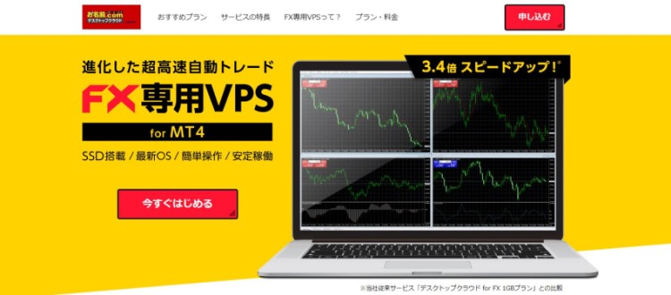 お名前.com(お名前ドットコム)デスクトップクラウド for MT4