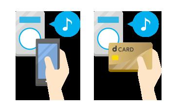 dカードは電子マネー「iD」が一体となったおトクで便利なカード