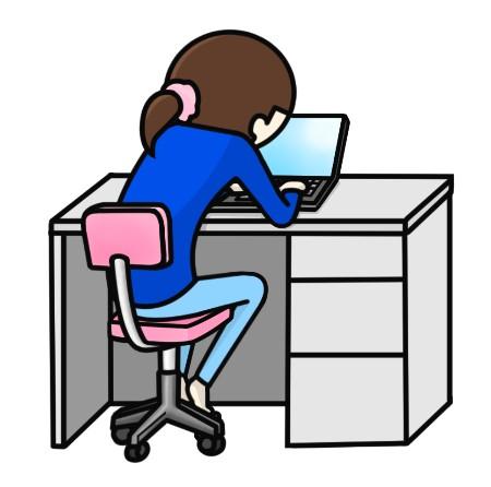 猫背:ノートパソコン作業で姿勢が悪くなる理由
