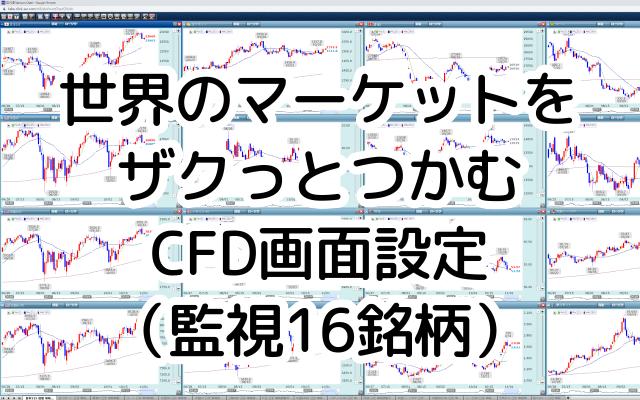 世界のマーケット相場・トレンドをサクッと把握する ChamiのCFD画面設定(監視16銘柄とその設定)