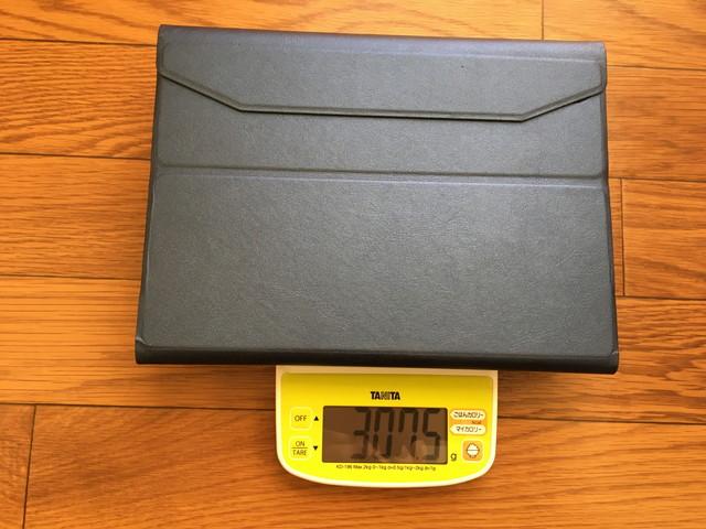 ipadケース:キーボードケース重量(キーボード取り外し時)