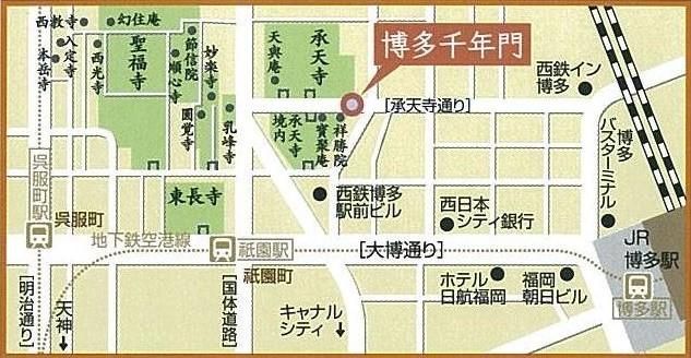 博多寺社町地図
