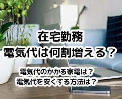 在宅勤務で増える電気代。何割増えるか、我が家10か月分の電気使用量を公開。電気代を安くする方法は?