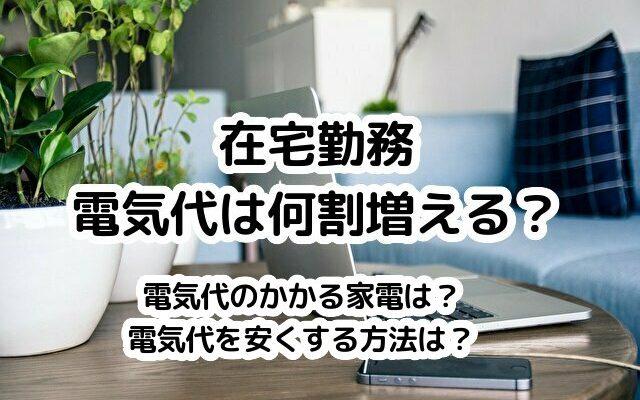 在宅勤務で増える電気代。何割増えるか、我が家11か月分の電気使用量を公開。電気代を安くする方法は?