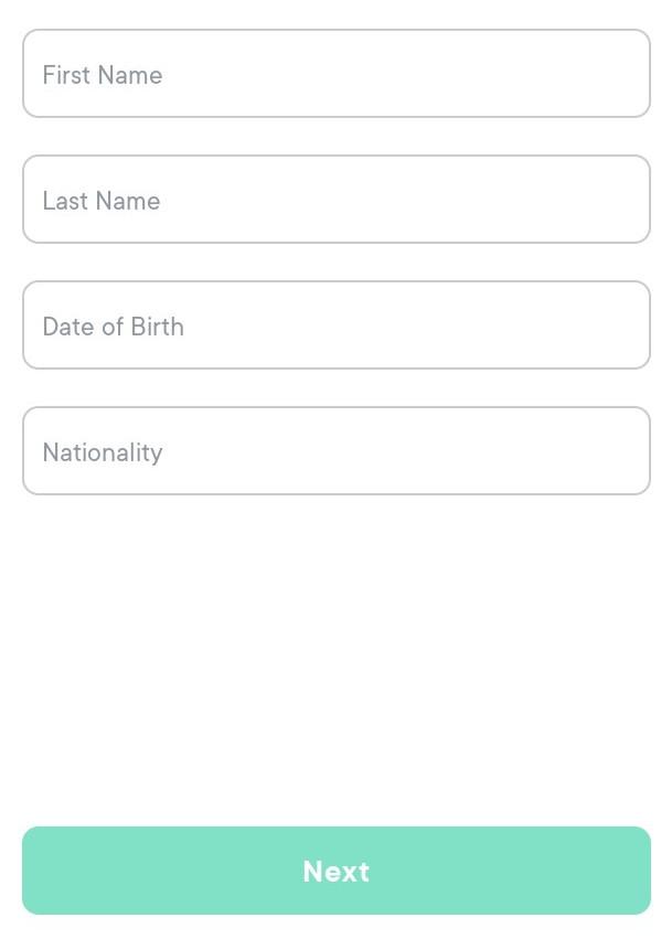 Swissborgウェルスアプリの口座開設